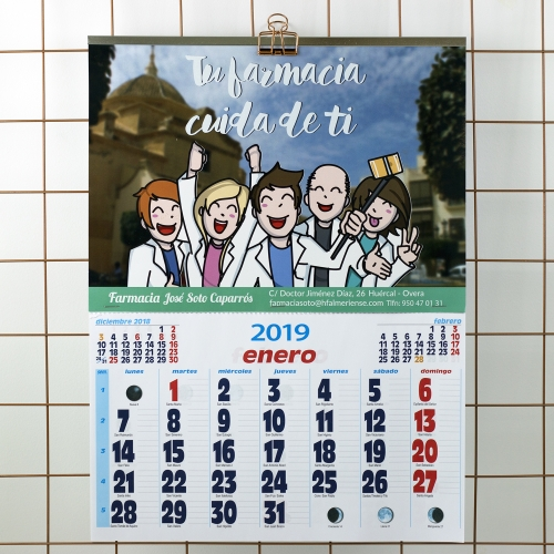 Calendario Farmacia de pared